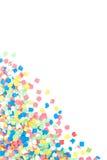 färgrika confettis Arkivfoto