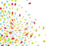 färgrika confettis för tryckvåg Royaltyfria Foton