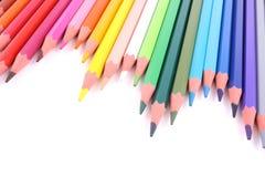färgrika crayons Royaltyfria Foton