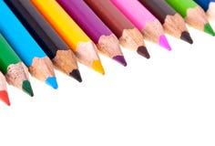 färgrika crayons Royaltyfria Bilder