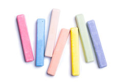 färgrika crayons Arkivfoton