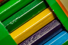 färgrika crayons Arkivfoto