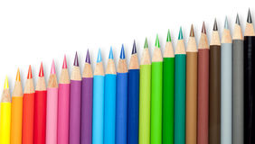 färgrika crayons Royaltyfri Foto
