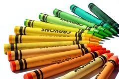 färgrika crayons Fotografering för Bildbyråer