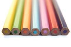 färgrika crayons ii Royaltyfri Bild