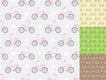Färgrika cyklar Arkivfoton