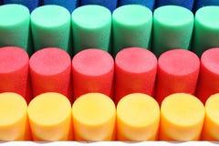 färgrika cylindrar Royaltyfria Bilder