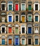 Färgrika dörrar i Skottland Royaltyfria Foton