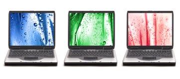 färgrika datorer royaltyfri foto