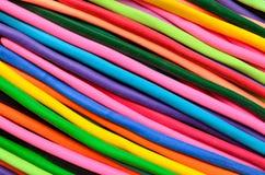 Färgrika deflaterade ballonger Arkivbilder