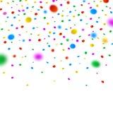 Färgrika defocused konfettier på vit bakgrund Royaltyfri Fotografi