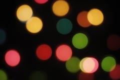 färgrika defocuslampor Royaltyfri Bild