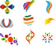 färgrika designelement Royaltyfria Bilder