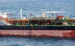 Färgrika detaljer på tankfartyget Arkivfoto