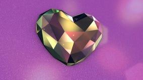 Färgrika Diamond Shaped Heart med flimrande ljus