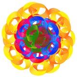 färgrika digitala lutningcirklar Royaltyfria Foton