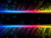 färgrika diskowaves för abstrakt bakgrund vektor illustrationer