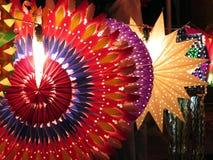 Färgrika Diwali lyktor Arkivbilder