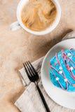 Färgrika donuts för 4th Juli Royaltyfri Fotografi