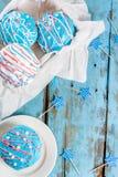 Färgrika donuts för 4th Juli Arkivfoton