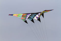 Färgrika drakar som flyger i himlen Arkivbilder
