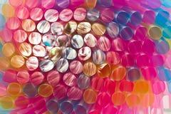 färgrika dricka sugrör Royaltyfri Fotografi