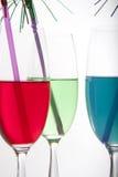 färgrika drinkar Arkivfoton