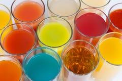 färgrika drinkar Royaltyfri Fotografi