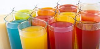 färgrika drinkar Royaltyfria Foton