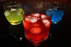 färgrika drinkar Fotografering för Bildbyråer
