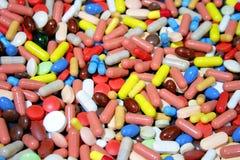 färgrika droger Arkivbild