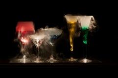 Färgrika drycker royaltyfri foto