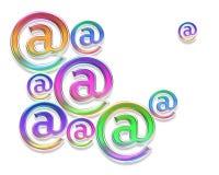 färgrika e-posttecken Royaltyfri Foto