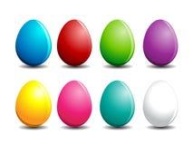 färgrika easter ägg stock illustrationer