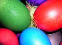 färgrika easter ägg Fotografering för Bildbyråer