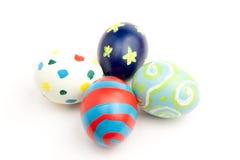 färgrika easter ägg fyra Arkivfoto