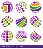 färgrika element royaltyfri illustrationer