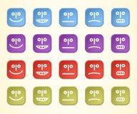 färgrika emoticons Arkivbild