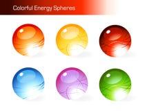 färgrika energispheres royaltyfri illustrationer
