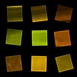 10 färgrika eps-fyrkanter för bakgrund Royaltyfri Bild