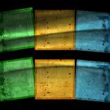 10 färgrika eps-fyrkanter för bakgrund Arkivfoto