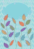 färgrika eps-leaves för kort Royaltyfri Fotografi
