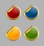 färgrika etiketter Arkivbild