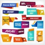 Färgrika etiketter vektor illustrationer