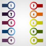 färgrika etiketter Fotografering för Bildbyråer