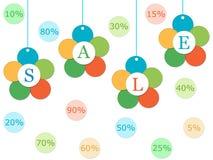 Färgrika etiketter för försäljningar Fotografering för Bildbyråer