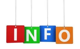 Färgrika etiketter för informationstecken Arkivfoton