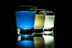 färgrika exponeringsglas Arkivbilder