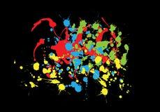 färgrika färgstänk Arkivfoto