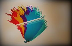 färgrika färgstänk Arkivbilder